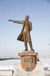 羊ヶ丘展望台のクラーク博士の銅像